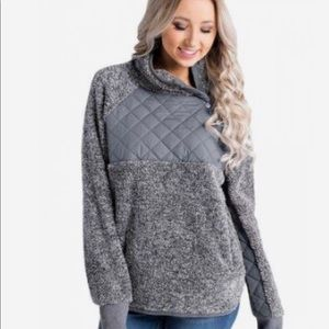 Maurices Asymmetrical Snap Pullover Fleece